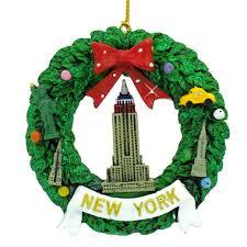 new york empire wreath ornament
