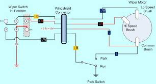 wiring diagram for windshield wiper motor wiper wiring science