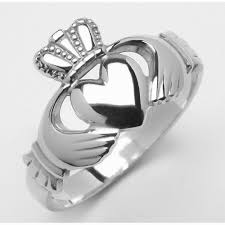 mens claddagh ring sterling silver heavy traditional men s claddagh ring 13 5mm