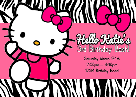 Editable 1st Birthday Invitation Card Free Printable Hello Kitty Birthday Party Invitations Template