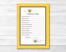 bumble bee wishes for baby cards bumble bee baby shower