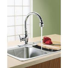 kohler vinnata single handle pull down sprayer kitchen faucet in
