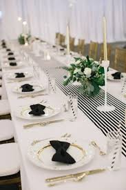 black and white table settings 54 black white and gold wedding ideas happywedd com