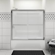 sterling finesse frameless by pass bath door at menards