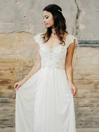 beading wedding dresses buy a line v neck cap sleeves chiffon wedding dress with