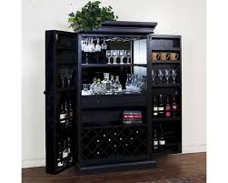 Home Bar Cabinet Designs Sunny Designs Black Bar Armoire Su 1913bw