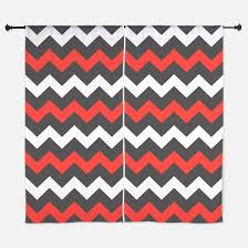 Teal And Red Curtains Red Chevron Window Curtains U0026 Drapes Red Chevron Curtains For Any