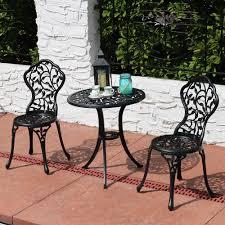 Patio Table Ls Sunnydaze 3 Patio Bistro Table Chair Set Furniture Options