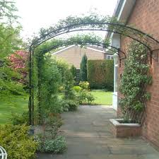 Metal Arches And Pergolas by Garden Arch For Walls Traditional Gloss Agriframes