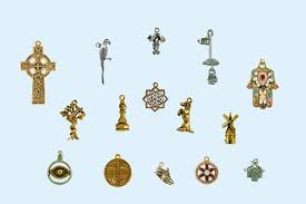 religious charms pewter charms
