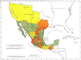 map of the mexico map of mexico 1824