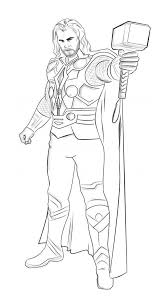 Thor Coloring Pages Movie Coloringstar Thor Coloring Page