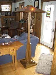 dark oak prairie style floor lamp adirondack craftsman lighting