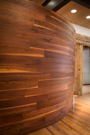 curved wood wall curved wood wall in the arrigoni woods showroom in minturn vail