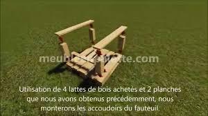 Table De Jardin En Palette De Bois by Fauteuil De Jardin En Palettes Youtube