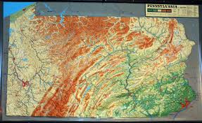 Western Pennsylvania Map by Large Extreme Raised Relief Map Of Pennsylvania