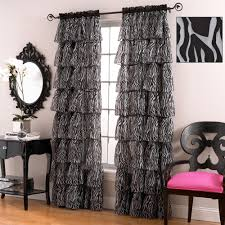 White Ruffled Curtains by Clearance Curtains And Drapes Touch Of Class