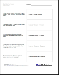 this page contains links to free math worksheets for word problems