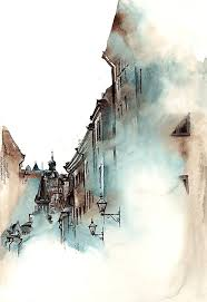 stockholm sweden sunga park creates watercolor paintings of architecture that she admires during her stay in each country