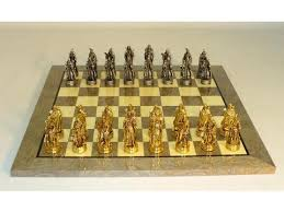 Chess Table And Chairs Brass Metal Chess Sets Chess Boards Gammonvillage Store Usa