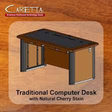 Natural Wood Computer Desk Traditional Computer Desk Caretta Workspace
