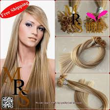 Itip Hair Extensions Wholesale by Fusion Italy Keratin U Tip Multi Color P14 613 18 Remy Hair