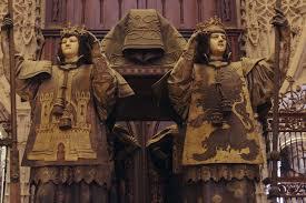 seville spain the tomb of christopher columbus seville spain