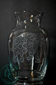 etched glass vase personalized glass etched elephant vase sandblasted sand carved glass art