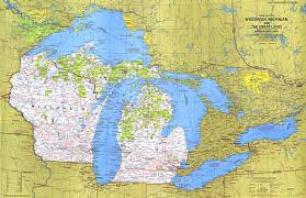up michigan map up usa wisconsin michigan and the great lakes map