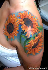 30 realistic sunflower tattoos for girls