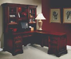furniture dazzling l shaped desk with hutch and white wall
