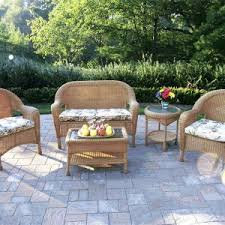 Round Back Patio Chair Cushions Exterior Design Charming Wicker Furniture Cushions For Outdoor