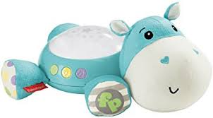 si e social hippopotamus fisher price cgn86 hippo plush projection soother born