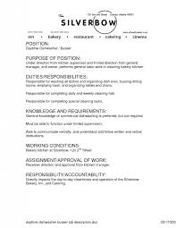 Busboy Resume Examples by Dishwasher Job Description Dishwasher Resume With No Experience
