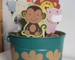 Baby Monkey Centerpieces by Safari Baby Shower Centerpiece Etsy