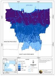 Map Of Jakarta Map Of Isohyet On February In Dki Jakarta 3 2 Distribution Of