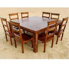 8 person kitchen table 9 pc square dining table and 8 chairs set rustic solid wood