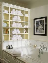 Bathroom Towel Storage Ideas by Quick And Easy Bath Storage Bathtubs Towels And Sinks