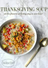 thanksgiving soup turkey chowder home