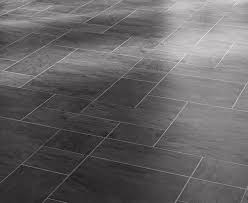 Parquet Effect Laminate Flooring Faus Night Black Slate 8mm Tile Effect Laminate Floor 40346003