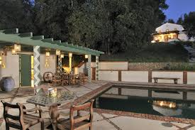 Pool And Patio Decorating Ideas by Concrete Patio Decorating Ideas Pool Southwestern With Pool House