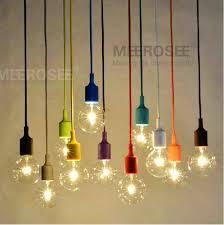 Edison Bulb Light Fixtures Colorful E27 Socket Pendant Light Suspension Drop Lamp Modern