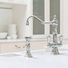 perrin and rowe 4766 picardie twin lever monobloc kitchen tap