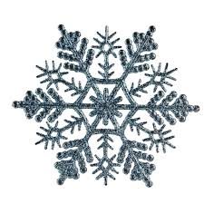 club pack of 24 baby blue glitter snowflake ornaments 4
