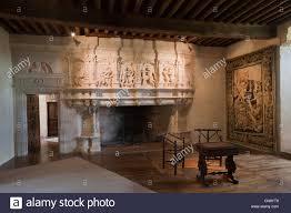 france dordogne villars puyguilhem castle great room fireplace