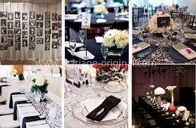 decoration mariage noir et blanc décoration de salle de mariage par couleur