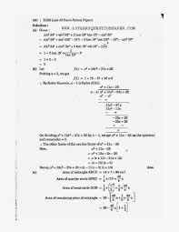 icse mathematics 2014 solved paper class 10 10 years question
