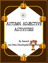 autumn adjectives worksheets activities and thanksgiving