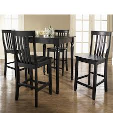 crosley 5 piece pub dining set with turned leg and house