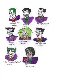 different styles of the joker by kessielou deviantart com on